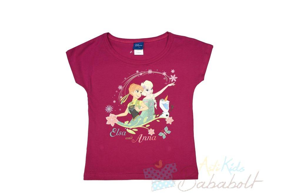 07945ead21 Disney Jégvarázs-Frozen rövid ujjú felső (méret: 110-152) - Póló ...